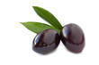 Black olives isolated