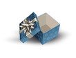 Open gift box. Vector illustration.