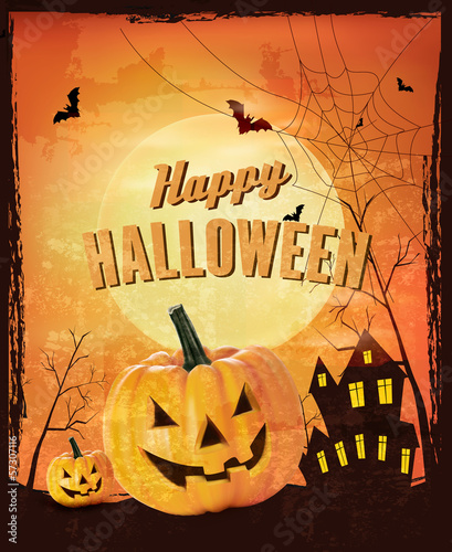 Retro Halloween background Vector