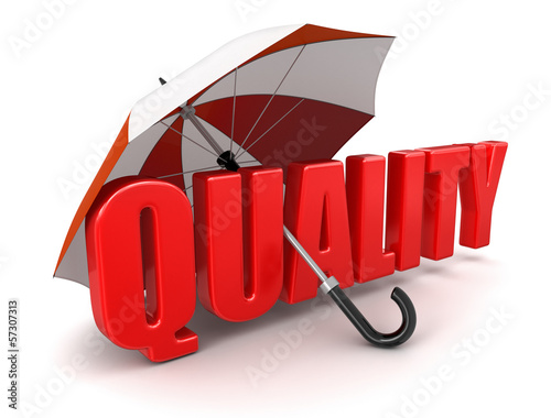 Quality under Umbrella (clipping path included)