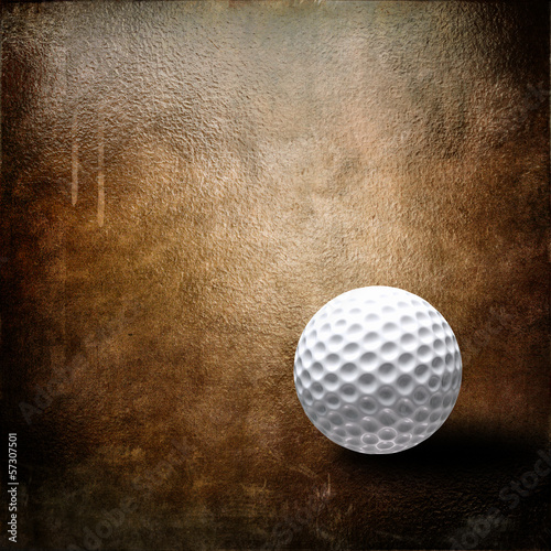 Golf ball over grunge background