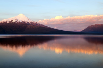 orsono volcano in Chile  reflection in the lake