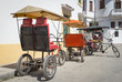 Three wheeled bicycles in Old Havana