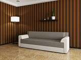 Sofa and a lamp
