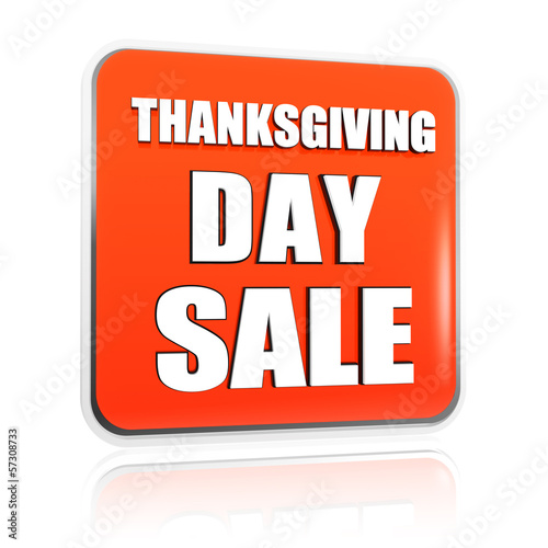 Thanksgiving day sale orange banner