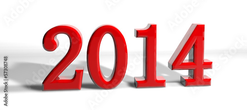 new year number 2014