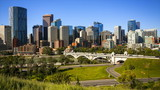 Downtown Calgary skyline, time lapse