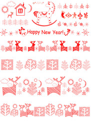Christmas red borders