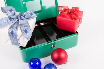 Weihnachtsgeschenke leeren die Kasse