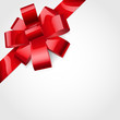 Red bow of ribbon