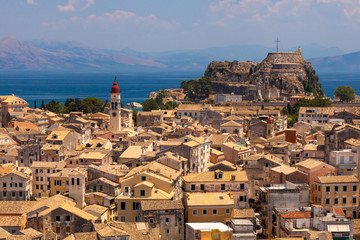 View homes in Corfu, Greece