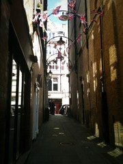 Atmospheric Side Street in London