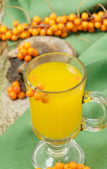 Fruit sea buckthorn berries drink