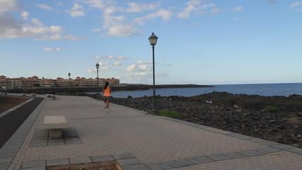 Jogging Girl near the sea