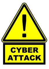CYBER ATTACK. Предупреждающий знак