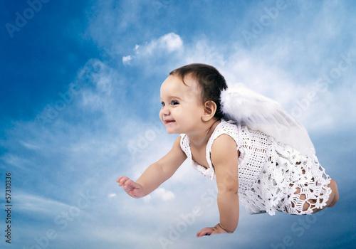 Fototapeten,himmel,wolken,baby,engel