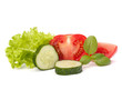 tomato, cucumber vegetable and lettuce salad