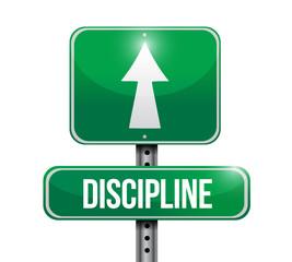 discipline road sign illustration design