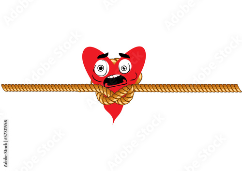 scared heart vector
