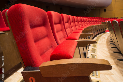 Seats in a theater and opera