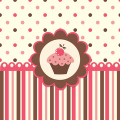 Cute background with cupcake
