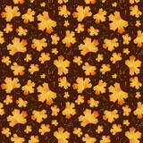 Autumn seamless background with maple leaves.