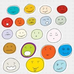 20 Various Cartoon Faces