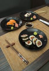 Sushi in sushi bar