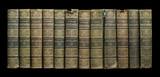Fototapety Old books on shelf