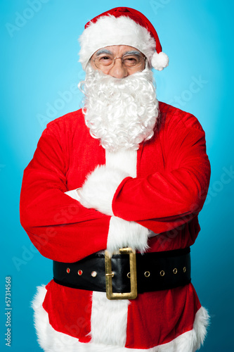 Santa claus posing with confidence