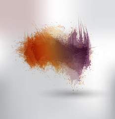 scattering of colored ink