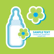 vector banner with bottle feeding baby