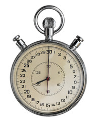 Old stopwatch. Clipping path included.