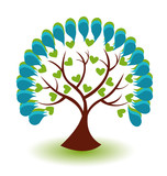 Tree business logo vector