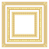 3 golden square frames
