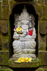 ganesh hindu god statue in bali indonesia