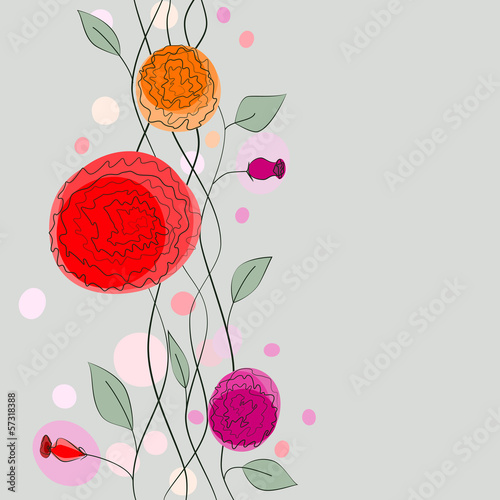 Tuinposter Abstract bloemen floral background