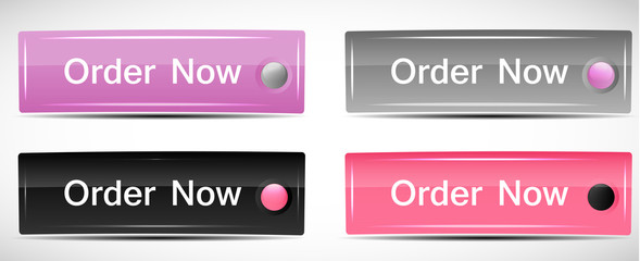 Shiny Rectangle Menu Buttons vector illustration