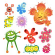 bacteria and virus cartoon - 57319135