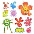 bacteria and virus cartoon