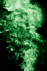 abstract green smoke