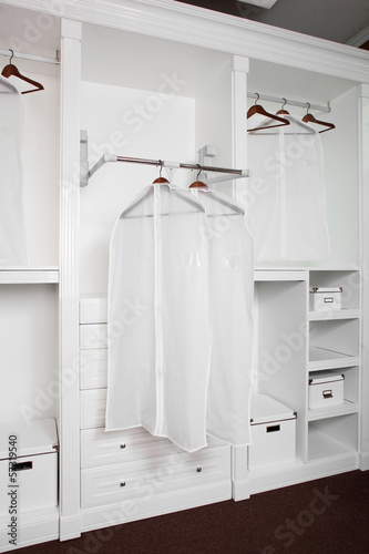 bright and clean european dressin room