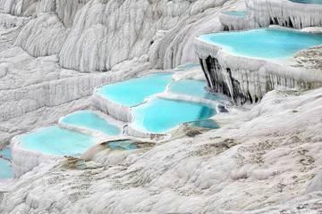 .Travertine pools