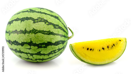 yellow water melon on white background