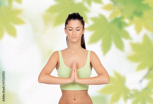 Beautiful girl doing Yoga