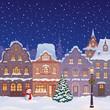 Christmas town street