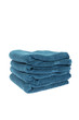 Blue towels folded