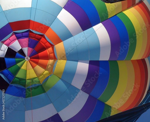 rainbow hot air balloon
