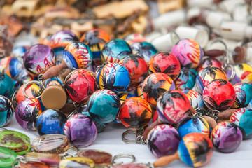 Colourful Caribbean hand made marakases souvenirs