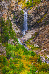 One of many glacier waterfalls in Cascade Canyon - Grand Tetons